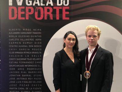 IGOR y CARLOTA premiados en la IV GALA del DEPORTE de COMPOSTELA